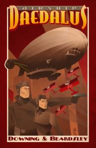 Airship Daedalus Poster Print